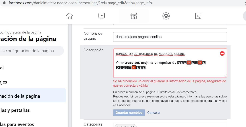 cambiar las letras en facebook | diferente tipografia facebook