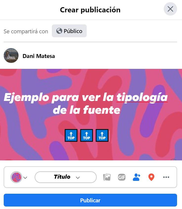 cambiar las letras en facebook   diferentes fuentes Facebook